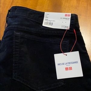 Uniqlo velvet slim fit pants